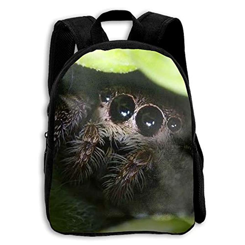 暴露明確に投げるキッズ バックパック 子供用 リュックサック 可愛いブラック蜘蛛 ショルダー デイパック アウトドア 男の子 女の子 通学 旅行 遠足