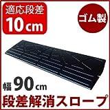 ナフサ ゴム製段差プレート DANSAのぼるくん 高さ10cm用(ストレート) 10-90 ブラック