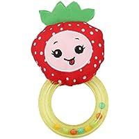 Edtoy Colored Strawberry Cartoon Fruit Baby Plush Hand Rattleおもちゃ