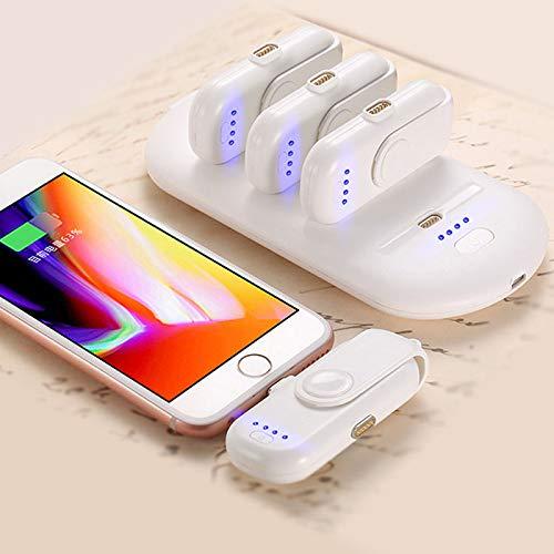 RaiFu モバイルバッテリー ミニ 超軽量 5 充電パック Powerbank 磁気 吸引 パワーバンク 充電器 持ち運び便利 iPhone/Android/type-c 携帯電話 スマホ ホワイト