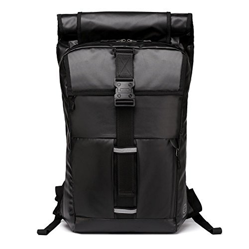 d055db10a3d8 YESO]×[CHARME] スクエア リュック 高品質防水 黒 ブラック バックパック ...