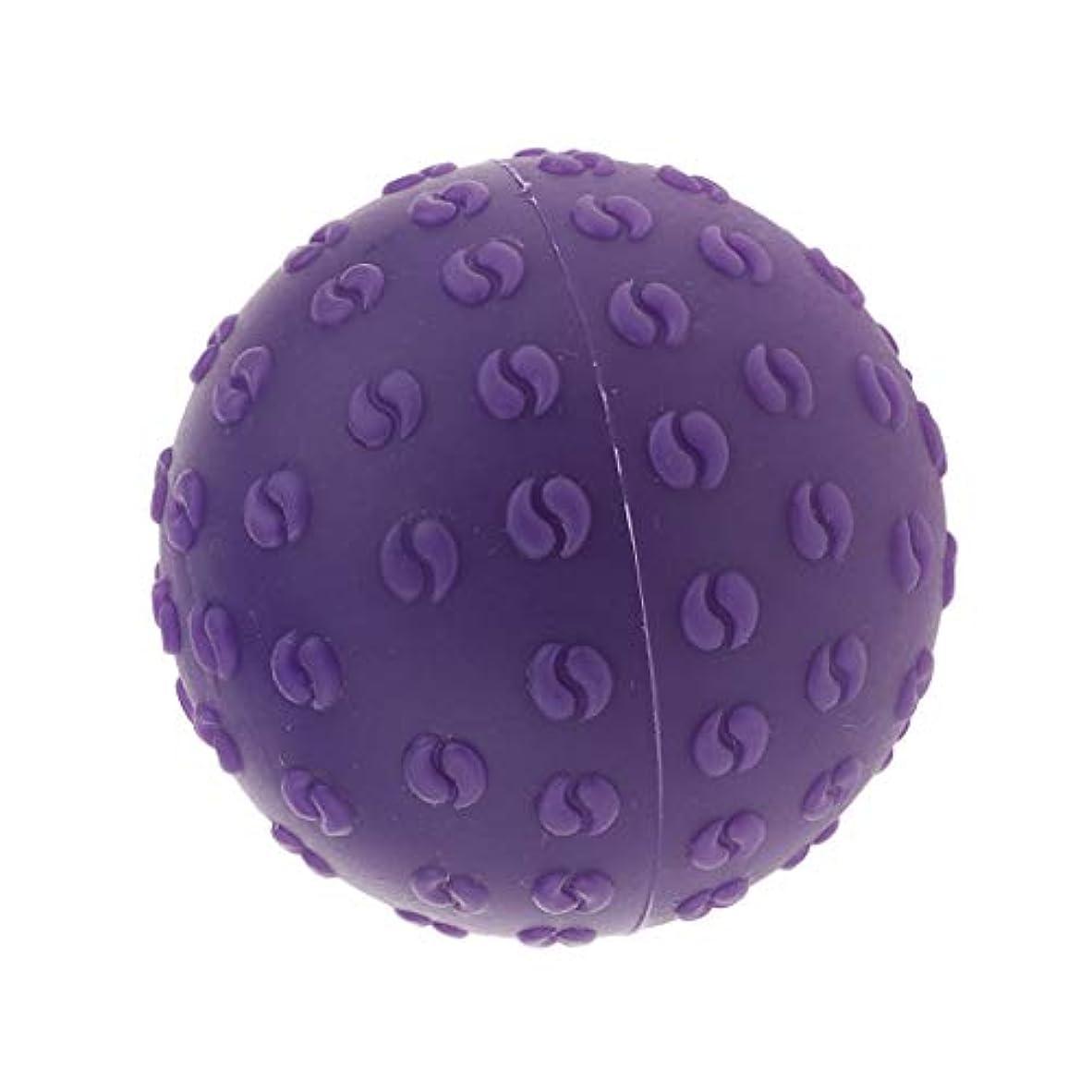 に話すびっくりする柔和Fenteer マッサージボール 指圧ボール シリコーン トリガーポイント 足底筋膜炎 ヨガ ツボ押しグッズ 全6色 - 紫, 説明のとおり