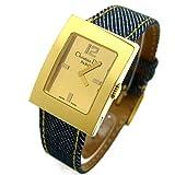[クリスチャン・ディオール]Christian Dior 腕時計 D78-159 マリス ゴールド文字盤 デニム レディース 中古