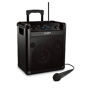 ION Audio Explorer ポータブルPAスピーカー 75時間バッテリー マイク付き Bluetooth対応 AM/FMラジオ