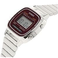 Casio Women's Digital Watch with Metal Bracelet LA-670WA-4