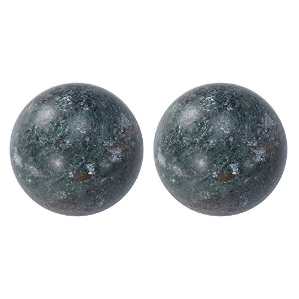 次平行粘土HEALIFTY 2個の自然の翡翠手球ダークグレー中国の健康運動ボーイングボール老人のためのストレスリリーフ(黒)