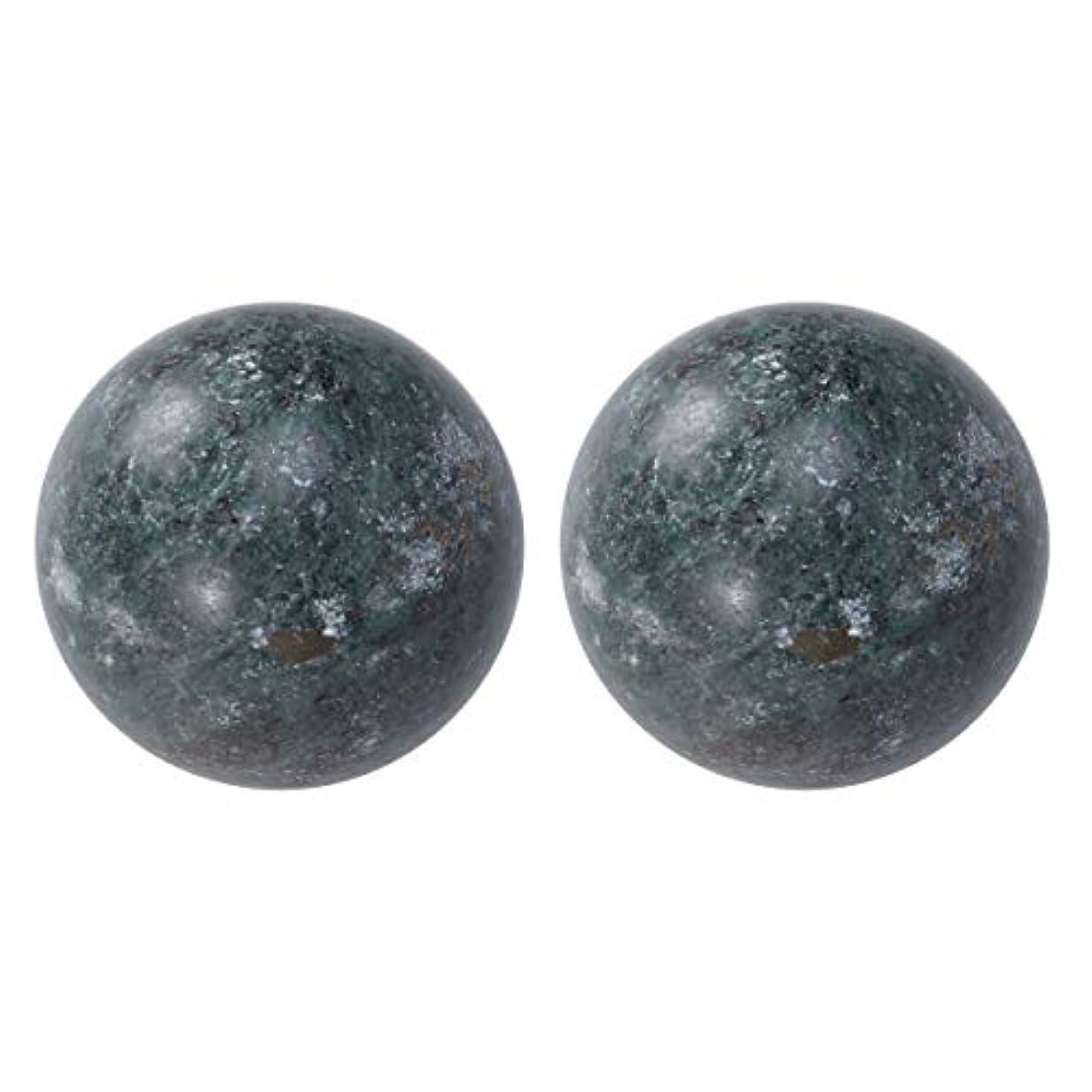 通行料金累積傑作HEALIFTY 2個の自然の翡翠手球ダークグレー中国の健康運動ボーイングボール老人のためのストレスリリーフ(黒)