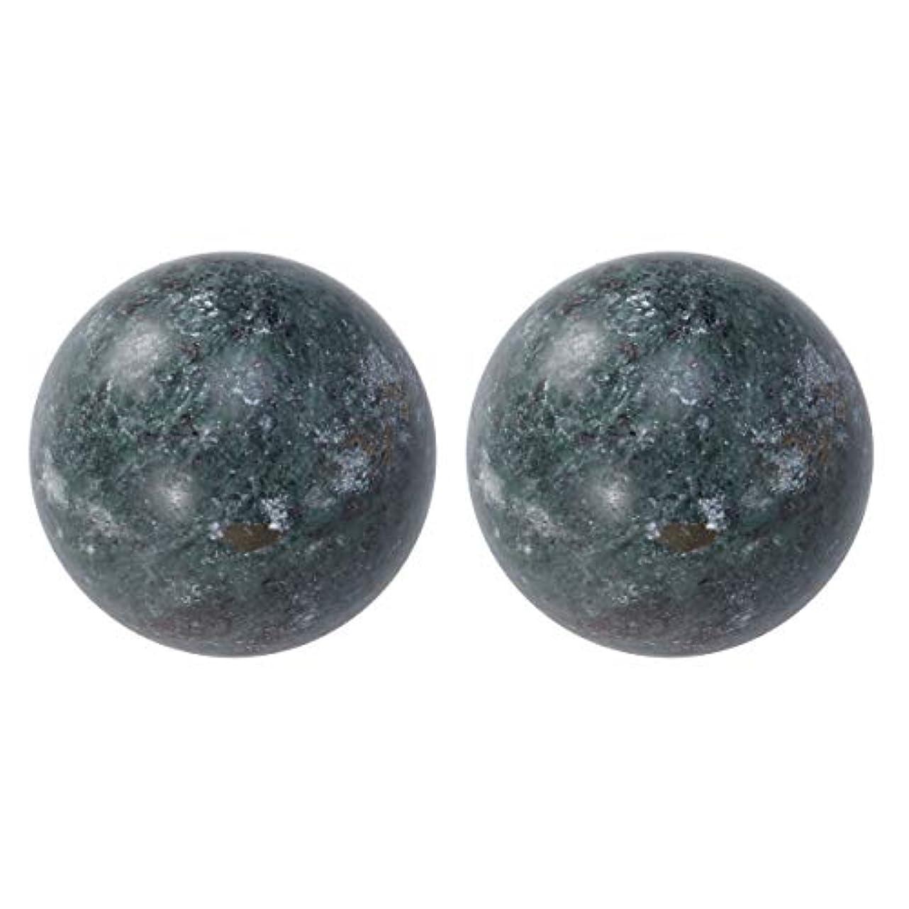 染色侵入反抗HEALIFTY 2個の自然の翡翠手球ダークグレー中国の健康運動ボーイングボール老人のためのストレスリリーフ(黒)