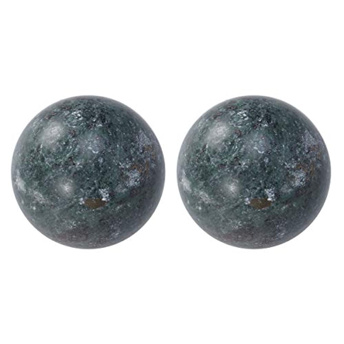 取り出す所持リークROSENICE 高齢者ボールジェイドハンドボール健康運動ボールストレスレリーフ2個(黒)