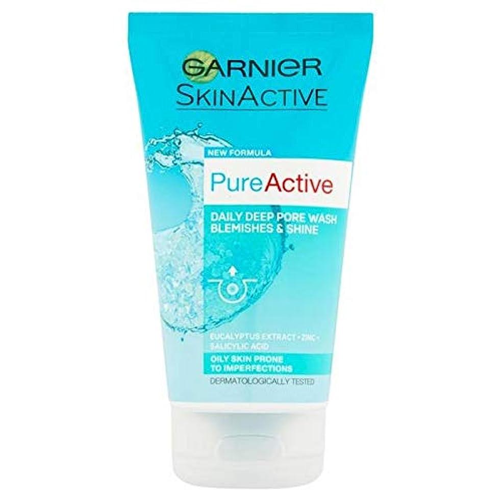 お互いパドル衝撃[Garnier] 純粋な活性抗にきび深い細孔フェイスウォッシュ150ミリリットル - Pure Active Anti-Blackhead Deep Pore Face Wash 150ml [並行輸入品]