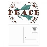 オリーブブランチ自由平和記号ポストカードセット誕生日ThanksカードMailing側20個