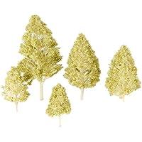 5個入り モデルツリー 樹木 木 鉢植え用 鉄道模型 風景 モデル トレス 情景コレクション ジオラマ 建築模型 電車模型 K1Y8