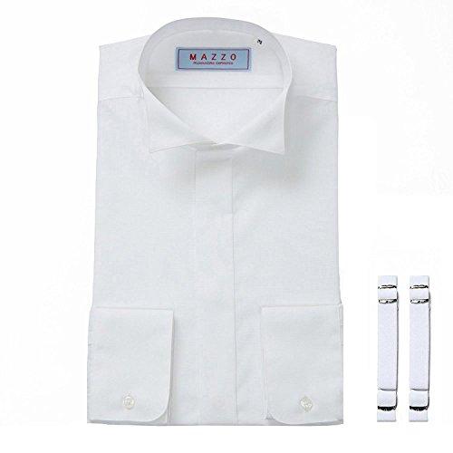 7d319fbed30bf ウイングカラーシャツ・アームバンドセット 3Lサイズ MAZZO