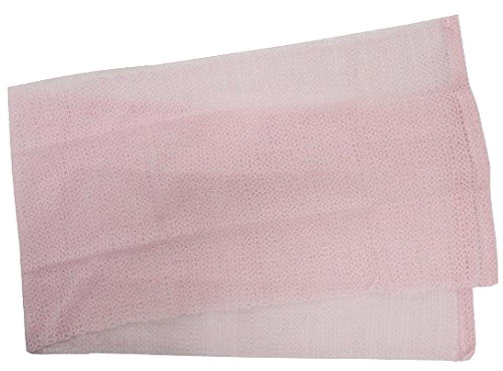 ベーリング海峡に向かって行う小久保 『メレンゲのような泡立ちとソフトな肌ざわり』 モコモコボディタオル ピンク 24×100cm 2277