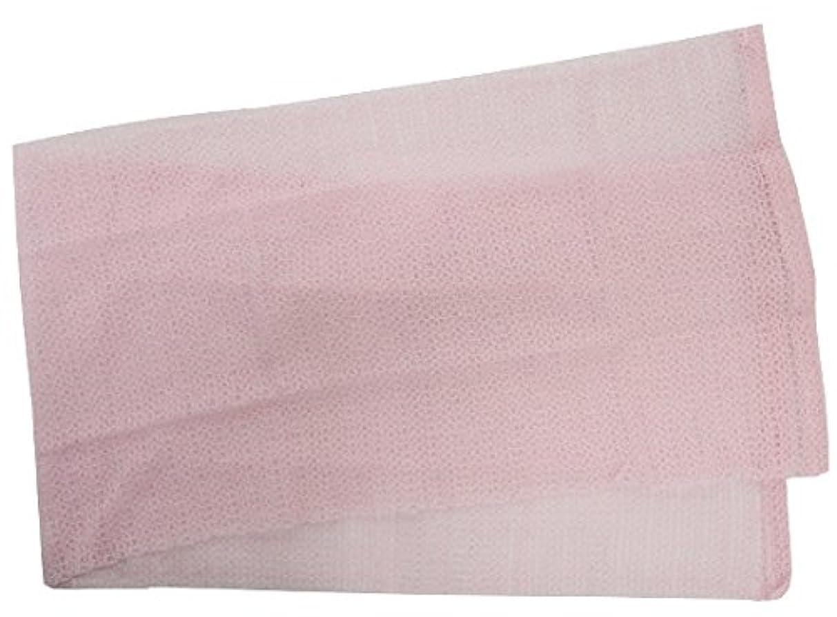 プレゼント共和国欠乏小久保 『メレンゲのような泡立ちとソフトな肌ざわり』 モコモコボディタオル ピンク 24×100cm 2277