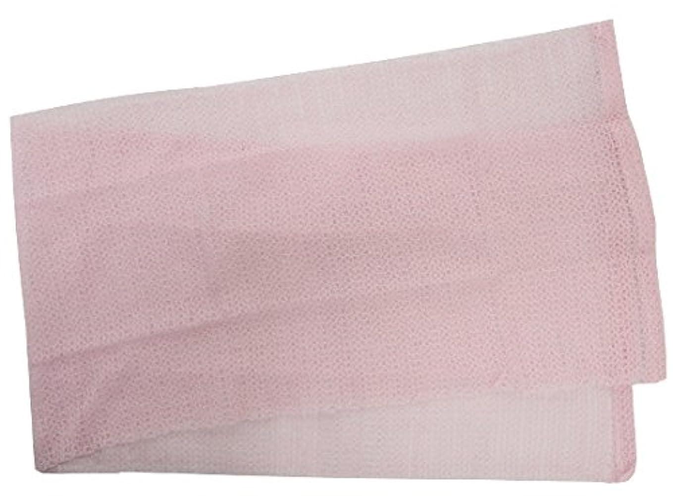 ハイランド寛容喪小久保 『メレンゲのような泡立ちとソフトな肌ざわり』 モコモコボディタオル ピンク 24×100cm 2277