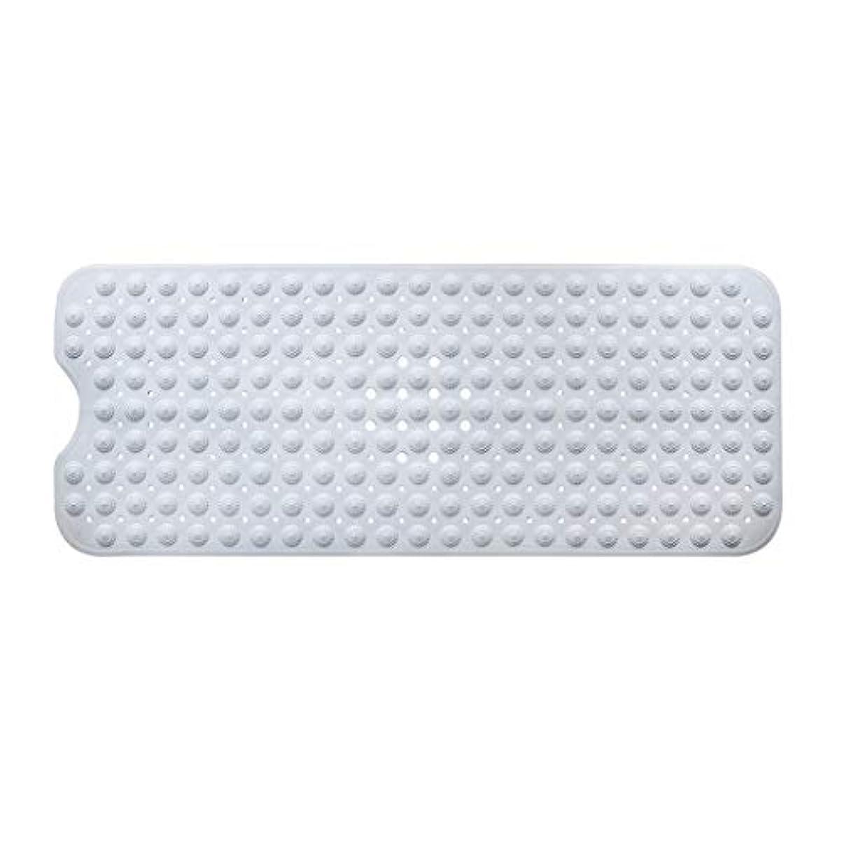 永久にラッドヤードキップリングバイオリニストSwiftgood エクストラロングバスタブマットカビ抵抗性滑り止めバスマット洗濯機用浴室用洗えるPVCシャワーマット15.7