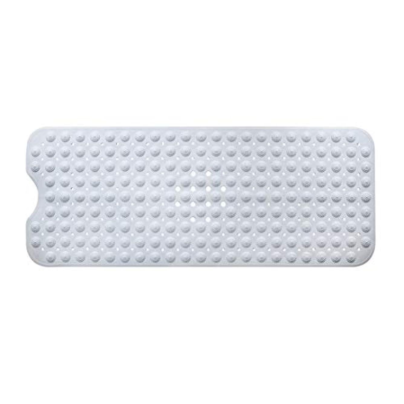 シーケンス控えめな不測の事態Swiftgood エクストラロングバスタブマットカビ抵抗性滑り止めバスマット洗濯機用浴室用洗えるPVCシャワーマット15.7