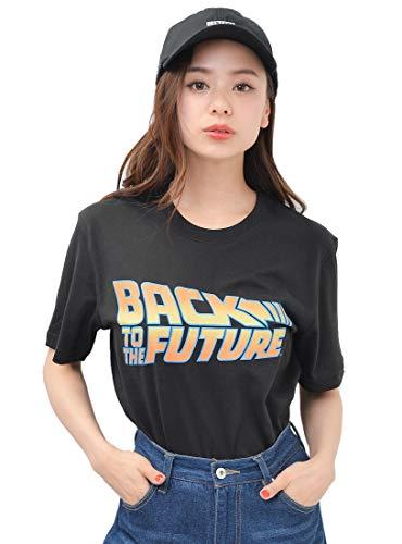 ブラック M (ディーループ)D-LOOP バックトゥザフューチャー BACK TO THE FUTURE シネマポスタープリントTシャツ レディース 映画 124851-005-001