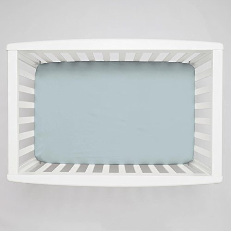 Carousel Designs Solid Robin's Egg Blue Mini Crib Sheet 5-Inch-6-Inch Depth by Carousel Designs