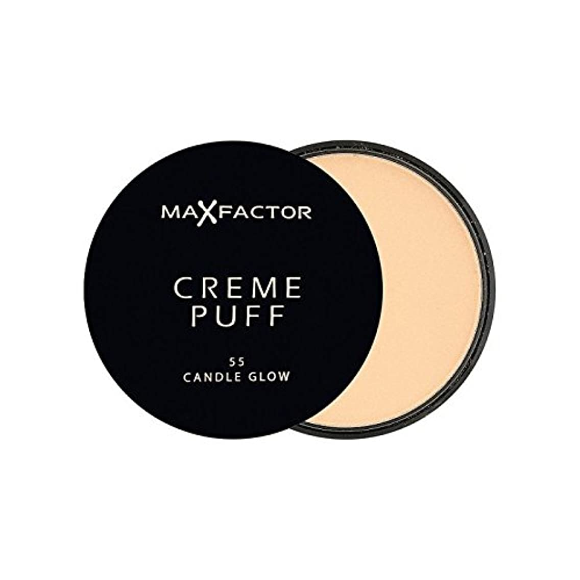 ポップテラスゴージャスMax Factor Creme Puff Powder Compact Candle Glow 55 - マックスファクタークリームパフパウダーコンパクトろうそくは55グロー [並行輸入品]