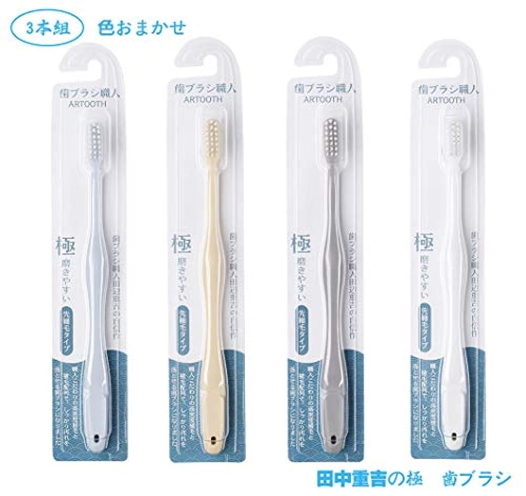 ヘロイン反応するゲージ歯ブラシ職人Artooth ®田辺重吉 磨きやすい歯ブラシ 極 AT-09 (3本組)