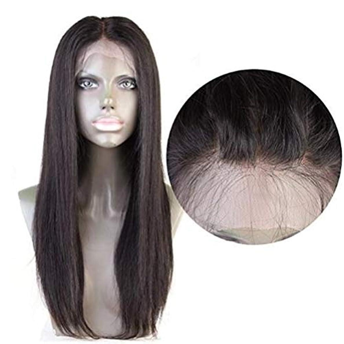 テザーたるみカバー女性ストレートヘア4×4レース前頭かつらブラジルバージン人間の髪赤ちゃんの髪自然な色で