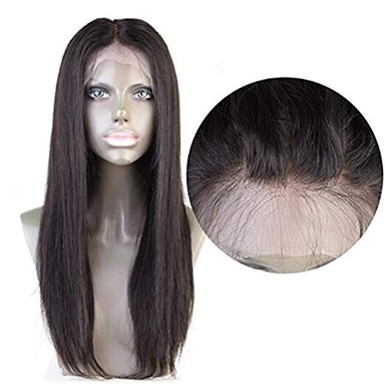 支店どんよりした連結する女性ストレートヘア4×4レース前頭かつらブラジルバージン人間の髪赤ちゃんの髪自然な色で