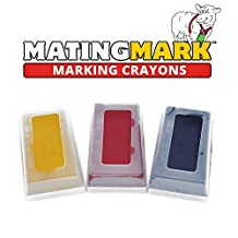 MATINGMARK Sheep & Goat Breeding Crayon Block Marker for use in Breeding/Marking Harness by Rurtec, 3 Pack (HOT Temperature) Yellow, RED, Purple, Made in New Zealand