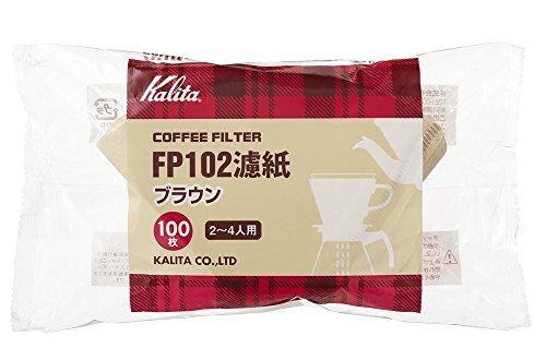 カリタ コーヒーフィルター FP102濾紙 2~4人用 100枚入り ブラウン #13129