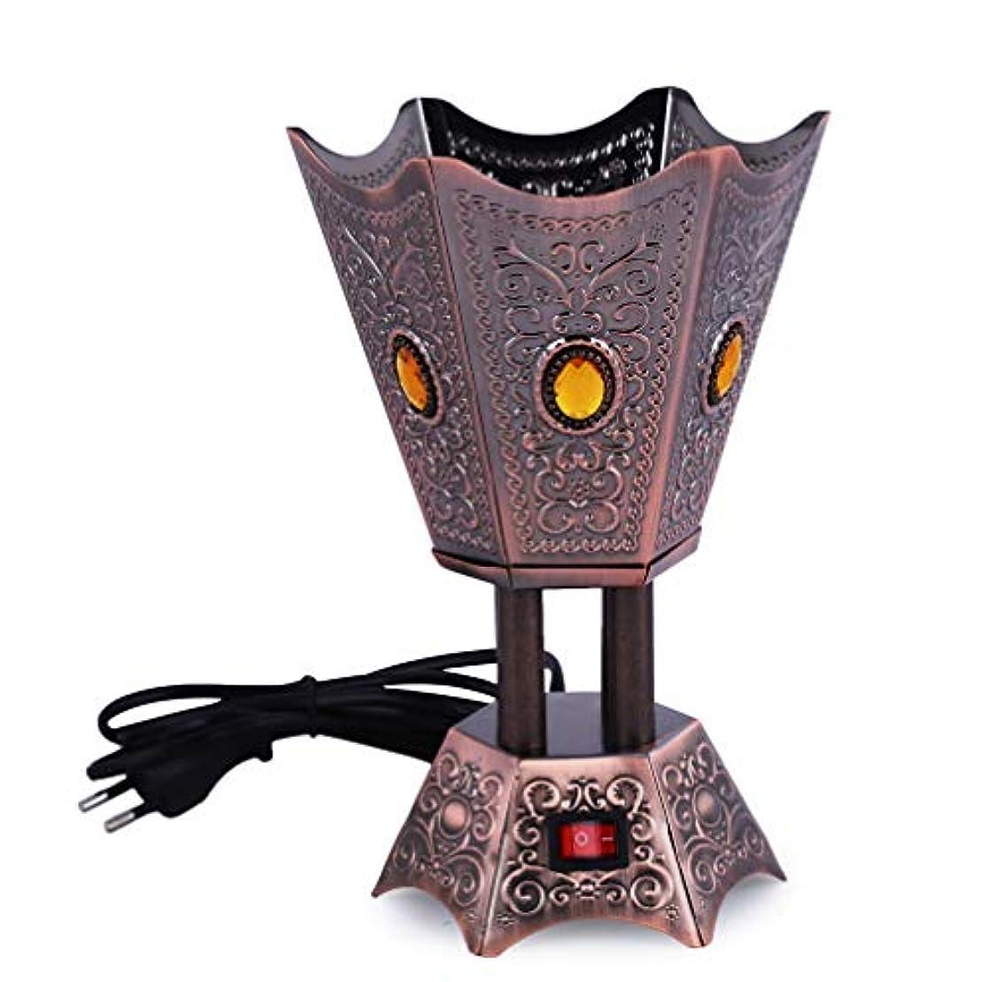 降下選挙葉っぱAntique Electric Bakhoor Burner Electric Incense Burner Camphor- Oud Resin Frankincense for Diwali Gift Positive...