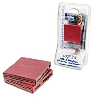 Logilink USB 2.0オールインワンカードリーダー - ピンク
