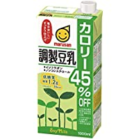 マルサン 調製豆乳 カロリー45%オフ 1L×6本