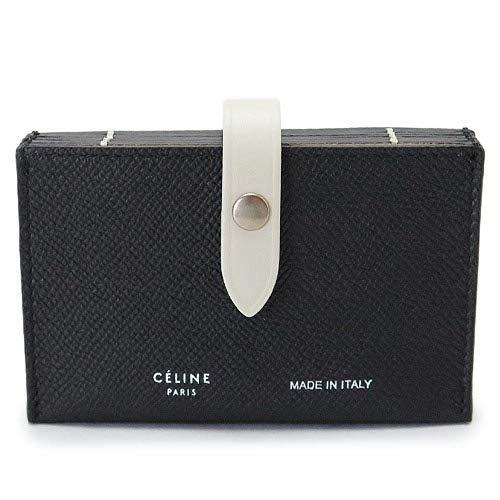[セリーヌ] CELINE カードケース レディース 名刺入れ レザー 黒 ブラック チョーク 10432 3AI5 38BJ BLACK/CHALK [並行輸入品]