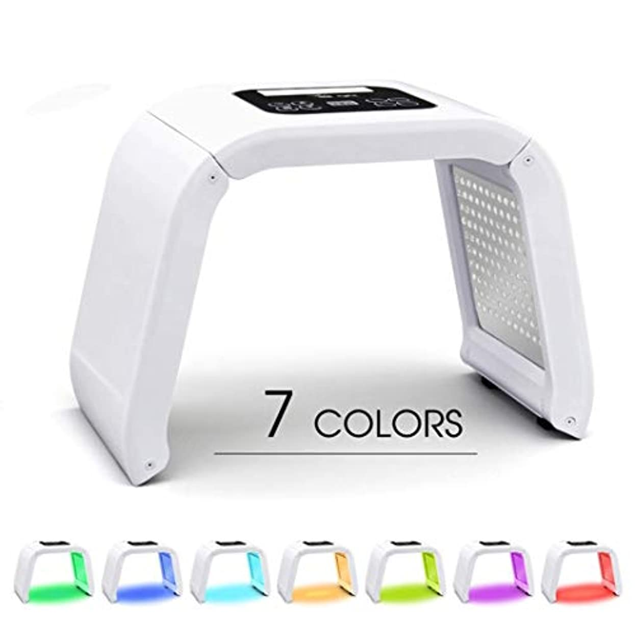 労働中庭乱す肌の若返りLED機器7色PDT LEDライトセラピースキンケア美容機アンチリンクルホワイトニング