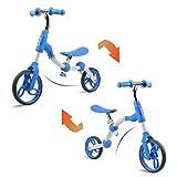 Vokul バランスバイク 2way ペダルなし自転車 人気 子供 2歳~5歳 子どもの日ギフト 誕生日プレゼント ブルー