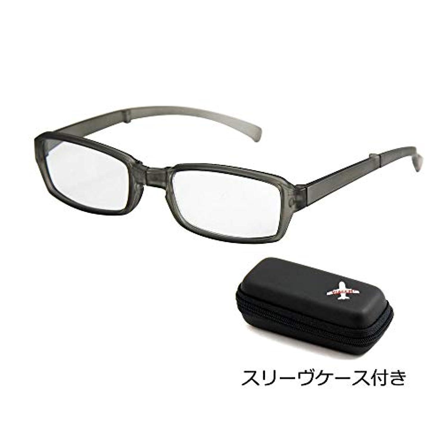 VIAGEM+ 折り畳めるリーディンググラス(老眼鏡) Mat GRAY VFR-02-2 +1.50(690020215) 【人気 おすすめ 通販パーク】