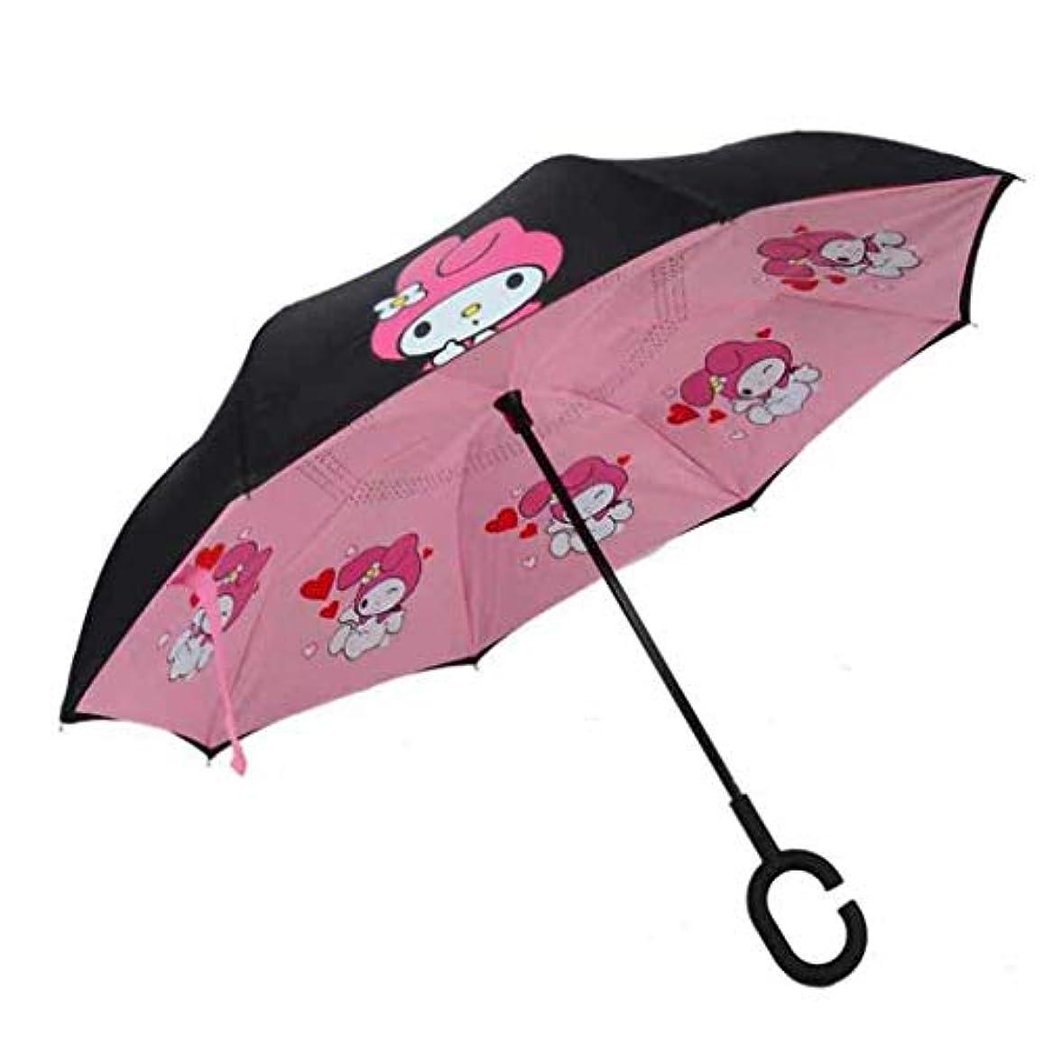 マウントバンク準拠洗剤傘、子供のための傘の子供、子供のための傘の子供、子供のための傘を倒す、フックCハンドル付き傘の子供、漫画の傘の子供たち,B