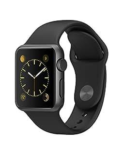 Apple Watch Sport 38mm スペースグレイアルミニウムケースとブラックスポーツバンド
