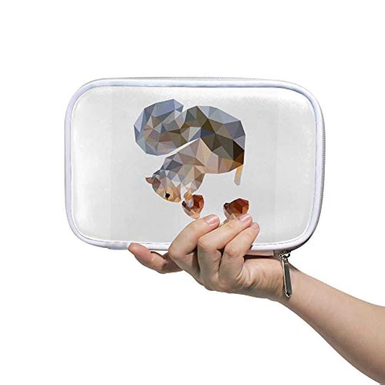 再現するうぬぼれ浸食ZHIMI 化粧ポーチ メイクポーチ レディース コンパクト 柔らかい おしゃれ 化粧品収納バッグ コスメケース リスの柄 機能的 防水 軽量 小物入れ 出張 海外旅行グッズ パスポートケースとしても適用