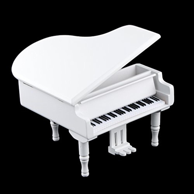 Fenteer 時計 仕掛け ピアノ オルゴール メロディー 子供 かわいい 贈り物 2色13パタン選べる - ホワイト, 白鳥の湖