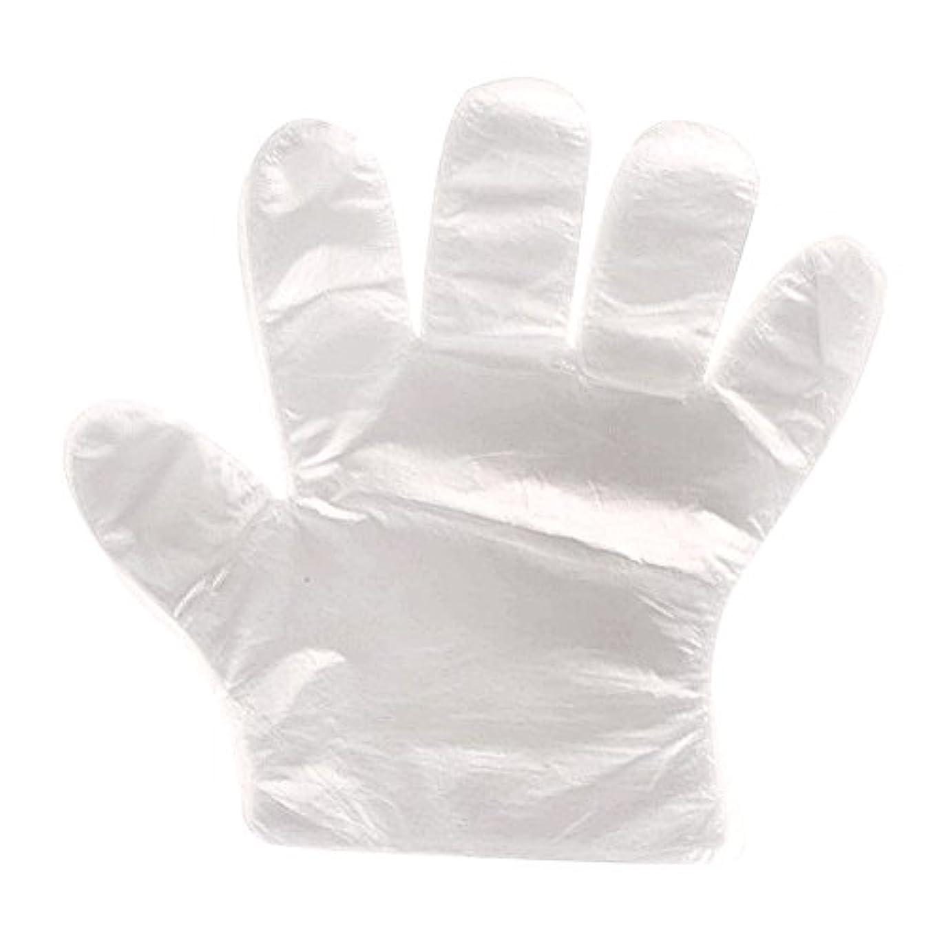 消費者モスク発見する使い捨て手袋 極薄ビニール手袋 透明 実用 衛生 調理に?お掃除に?毛染めに 100枚/セット 食品衛生法適合