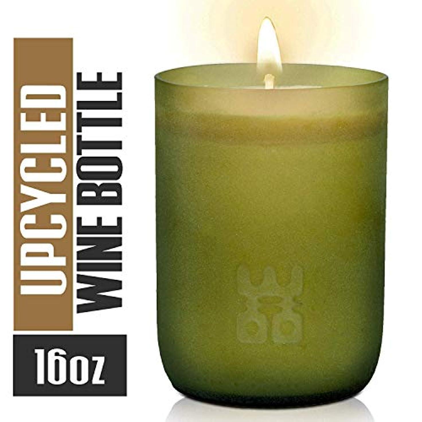 珍味タップ非常にWoo Worldsの機会Lucky Candle Upcycledワインボトル XL- 10 oz