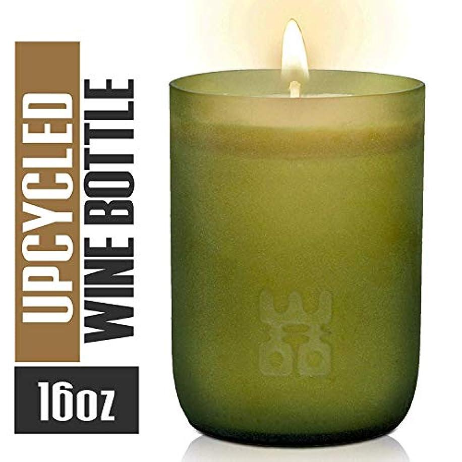 マーチャンダイジングシロクマステートメントWoo Worldsの機会Lucky Candle Upcycledワインボトル XL- 10 oz