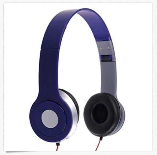 Jia Jia Trade 3.5MMスカルキャンディーヘッドホンイヤホンヘッドセットステレオヘッドホンイヤホンヘッドセットover-ear for iPhone / iPod / mp3/ mp4/ノートパソコンPCタブレット(ブルー)