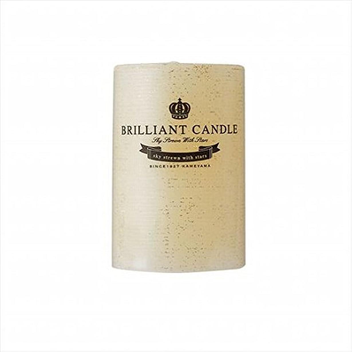 反論象実験をするkameyama candle(カメヤマキャンドル) ブリリアントピラー2×3 「 トパーズ 」(A9292100TP)