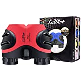 Luwint 8 X 21 Kids Binoculars for Bird Watching, Wildlife Nature Scenery, Game, Safari, Fishing, Mini Compact Image Stabilized (Red)