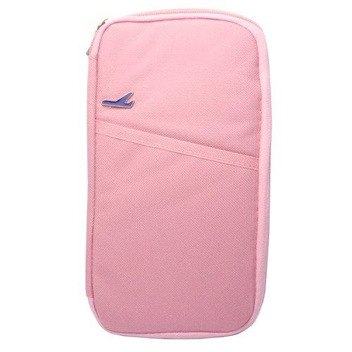 【パスポートケース】 トラベルグッズ 便利グッズ 海外旅行の必需品! (ピンク)