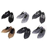 Vosarea シューズカバー 靴カバー 多次使用可能 通気性良い 防塵 滑り止め 静電気防止 環境にやさしい 工場 事務所 実験室など 1 ペア