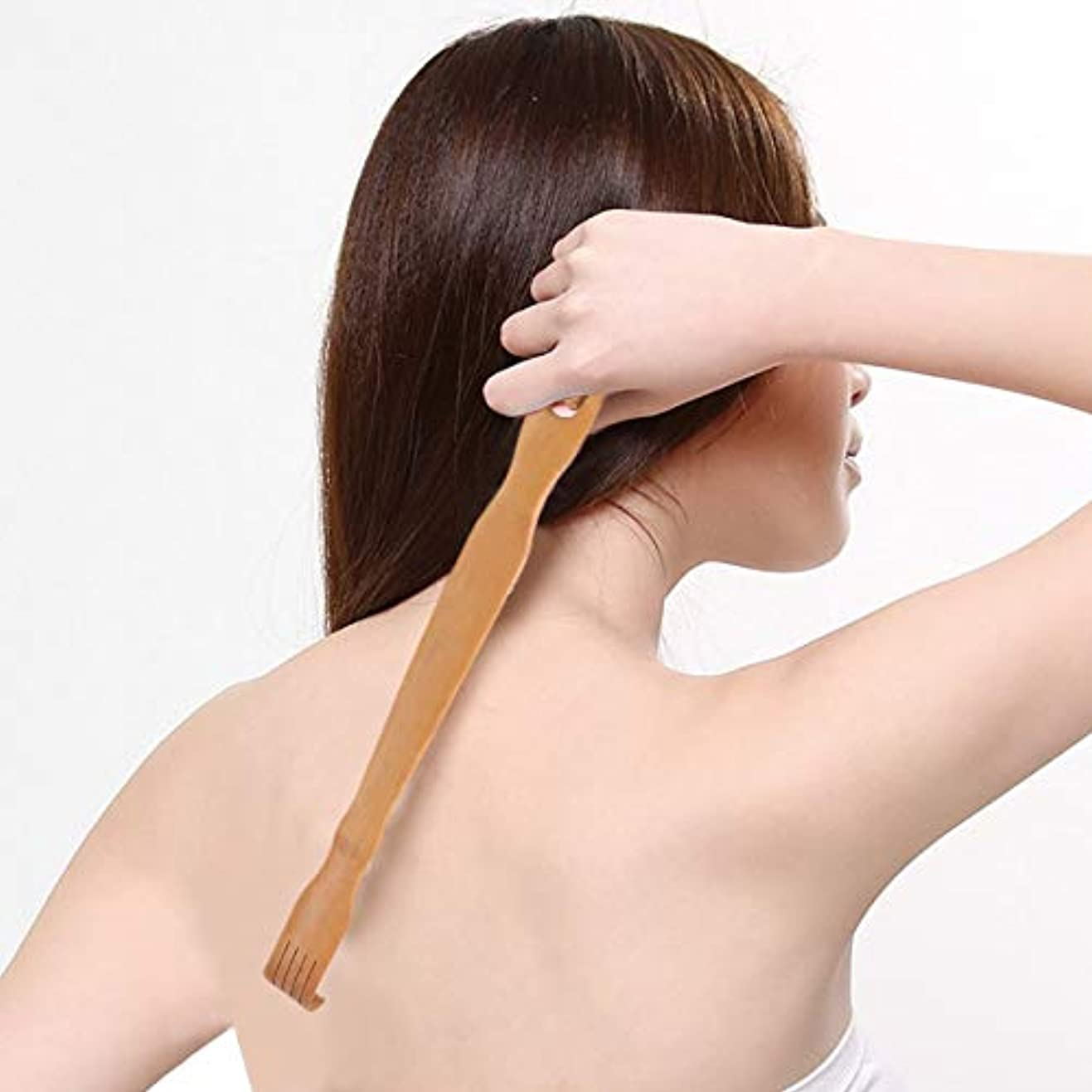 デザートコンパス詩実用的なデザイン天然木竹ボディマッサージバック男と女のボディスティックダブルロールバックマッサージ